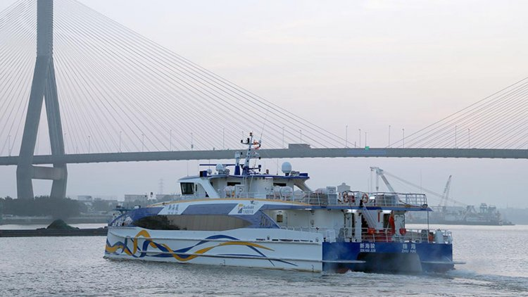 Launch of two Incat Crowther 40s for Zhuhai Fast Ferry Company
