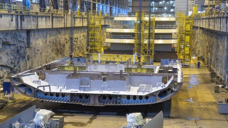 Helsinki Shipyard laid the keel of the second luxury expedition cruise ship