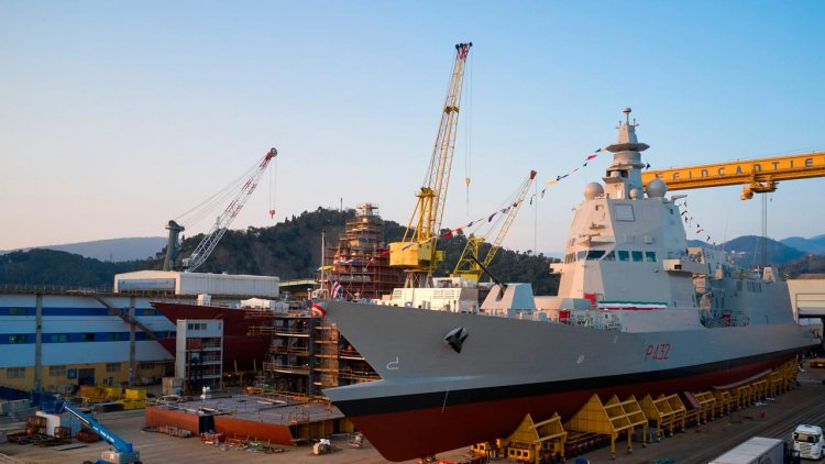 Fincantieri launched the third PPA Raimondo Montecuccoli in Riva Trigoso