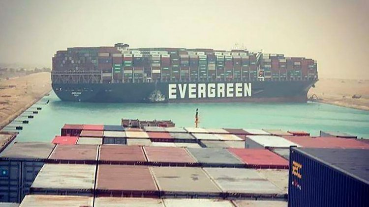 Egypt's Suez Canal blocked by large container ship