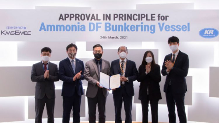 KR grants AIP for first Korean 8K ammonia bunkering vessel