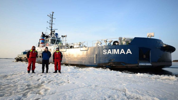 Aker Arctic completes full-scale ice trials of icebreaking bow Saimaa and tug Calypso