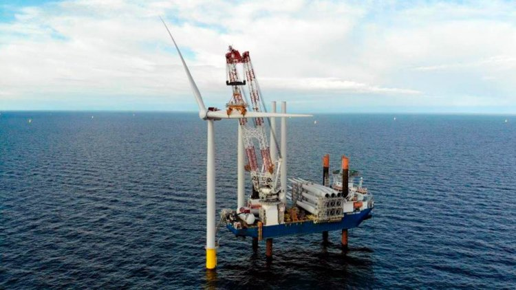 Jan De Nul successfully installed 36 wind turbines for the Kriegers Flak OWF