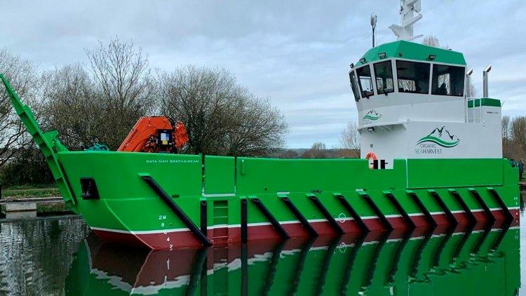 Damen delivers new aquaculture support vessel to Organic Sea Harvest