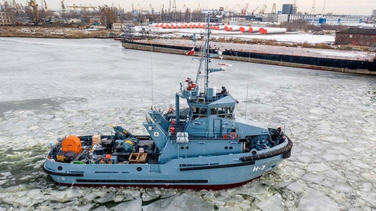 Evac´s marine growth prevention ensuring efficiency on new Polish Navy tugs