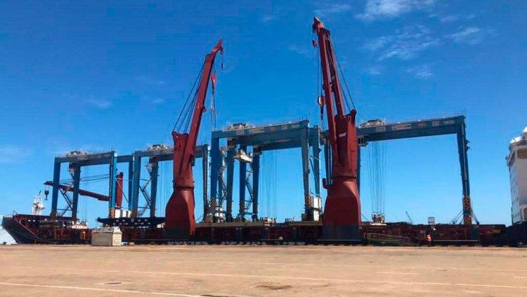 Five new yard gantries reinforce volume growth at the Port of Kribi