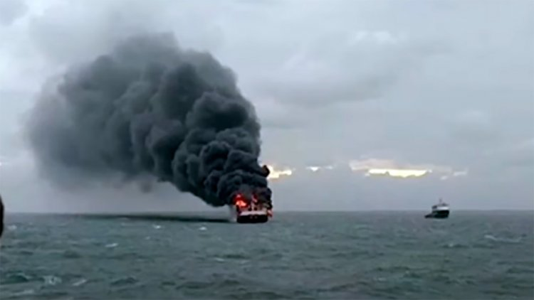 VIDEO: Sri Lanka rescues foreign crew from burning cargo ship