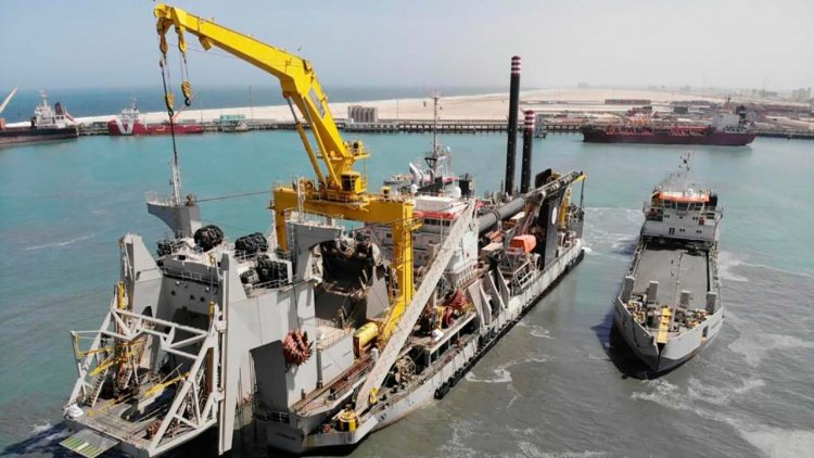 Cutter Suction Dredger Willem van Rubroeck embarks on its career in Mauritania