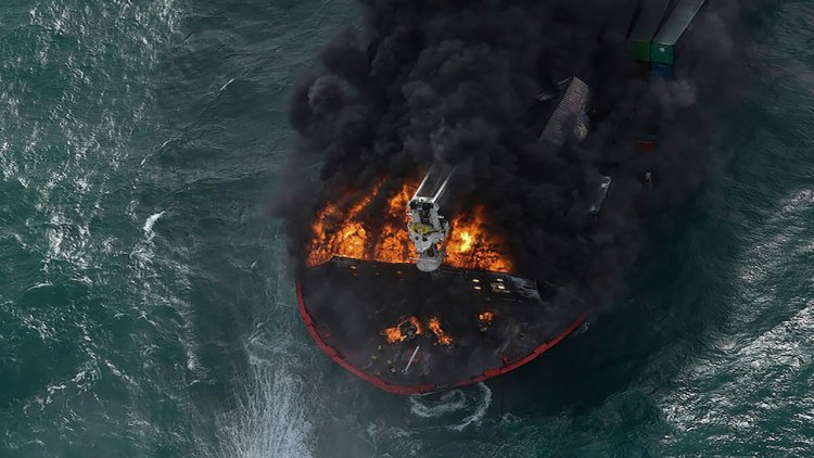 VIDEO: Chemical cargo ship sinks in one of Sri Lanka's worst-ever marine disasters
