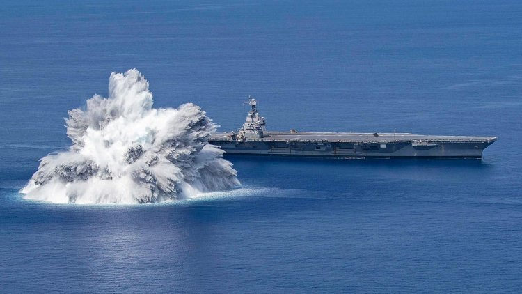 VIDEO: America's newest aircraft carrier endures full ship shock trials
