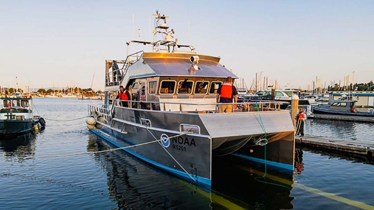 AAM launches 50' research vessel for NOAA