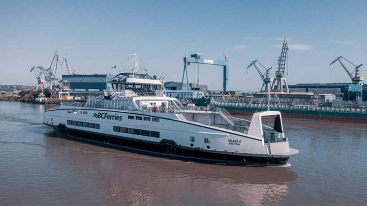 BC Ferries' fourth Island Class ferry transits Panama Canal