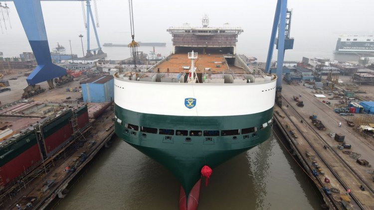 Finnlines' new ro-ro vessels celebrate launching and keel laying