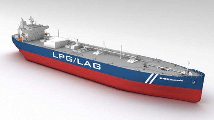 Kawasaki receives an order for an 86,700 m³ LPG-fueled LPG/ LAG carrier