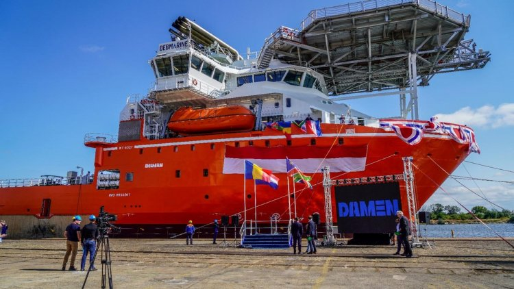 De Beers' latest diamond recovery vessel departs Damen Shipyards Mangalia