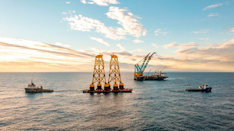 First turbine jacket foundation installed at Seagreen