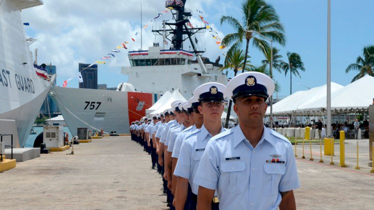 The U.S Coast Guard's two national security cutters commissioned in Honolulu