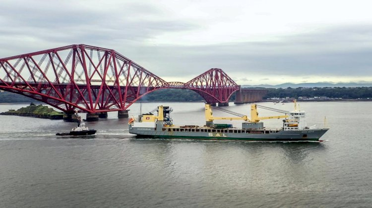 UK's first eco hopper arrived at the Port of Rosyth