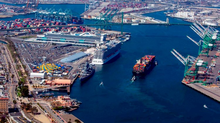 Port of Los Angeles cuts emissions from ships, harbor craft and cargo handling equipment