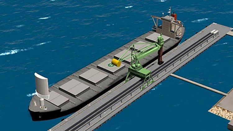 Japanese companies design a large cargo ship with 'hard sail'