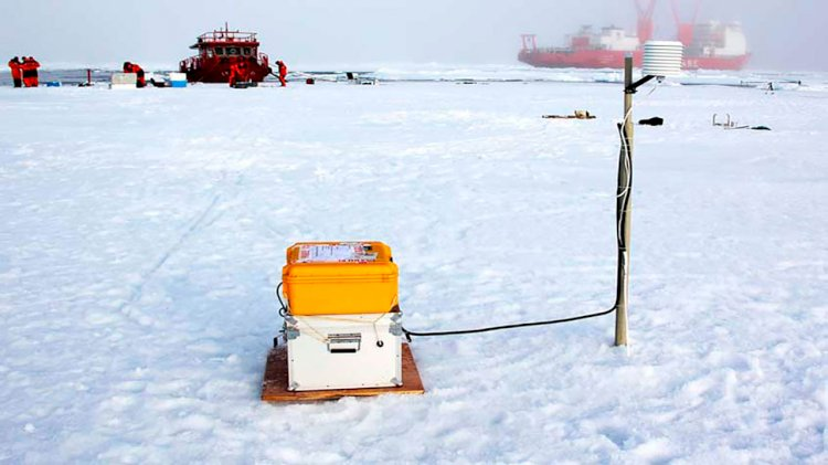 Scientists use SAMS' technology to measure arctic sea-ice melting