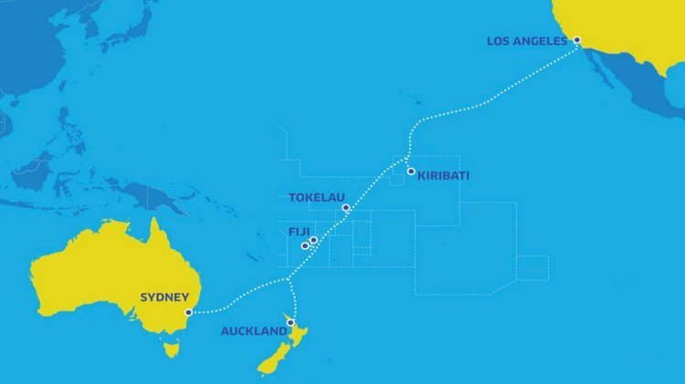 New submarine system between Australia, New Zealand and the USA