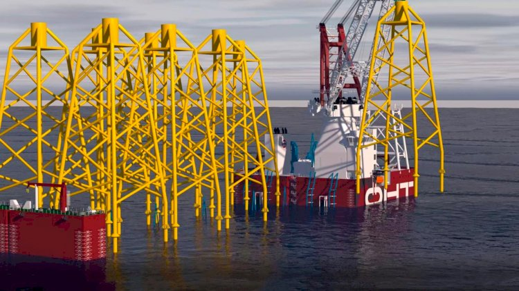 Ulstein designed an innovative heavy installation crane vessel
