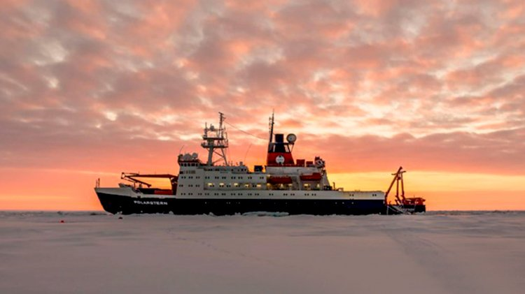 German icebreaker embarking on a global climate mission