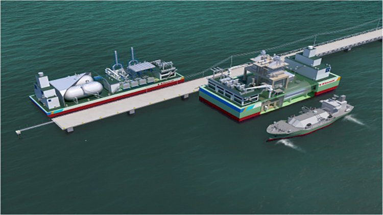 New LNG floating power plant by Kawasaki Heavy Industries