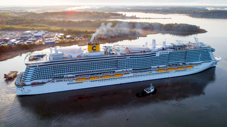 Innovative LNG-powered cruise ship was delivered to Costa Cruises