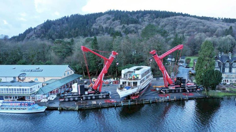 New boat MV Swift launches onto Lake Windermere