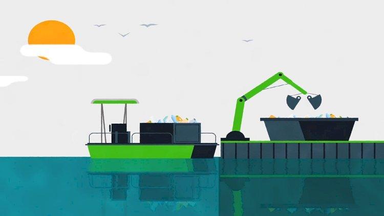 DEME deploys autonomous plastic collector on the river Scheldt