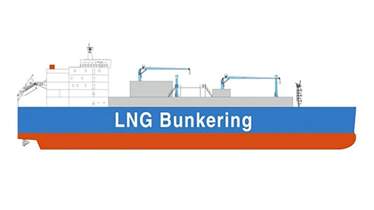 MOL finances world's largest LNG bunkering vessel for Total