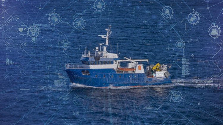 First integrated maritime IoT system on active working vessel