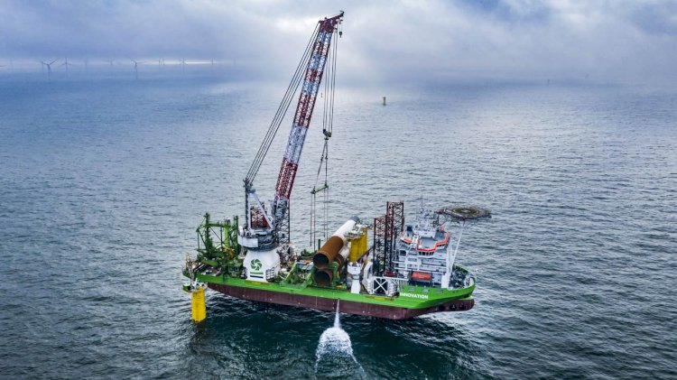 Foundation installation completed at Belgium's largest offshore wind farm