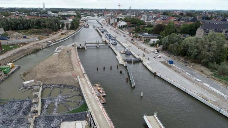 Jan De Nul completes maritime infrastructure works in Harelbeke