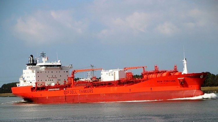Odfjell's chemical tanker collided with fishing boat in Galveston Bay