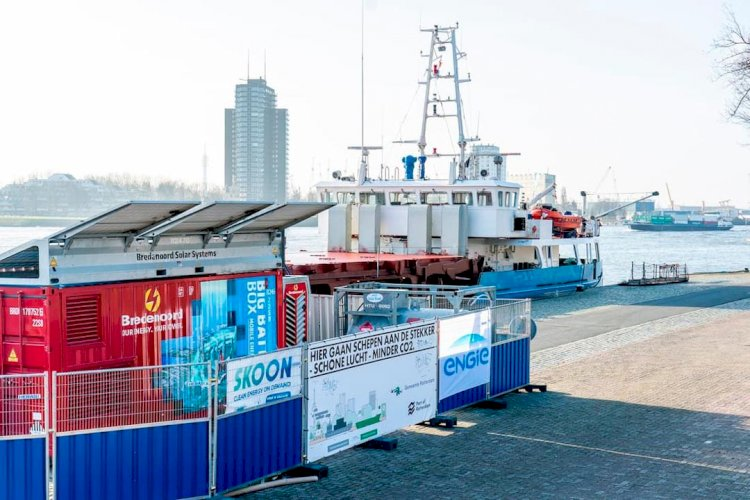 Vessels offered free shore power during Parkkade trial in Rotterdam