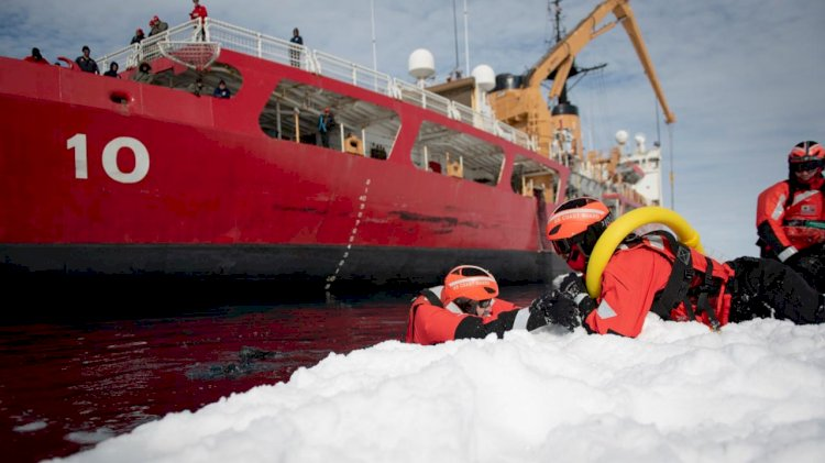 Coast Guard's only heavy icebreaker arrives in Antarctica