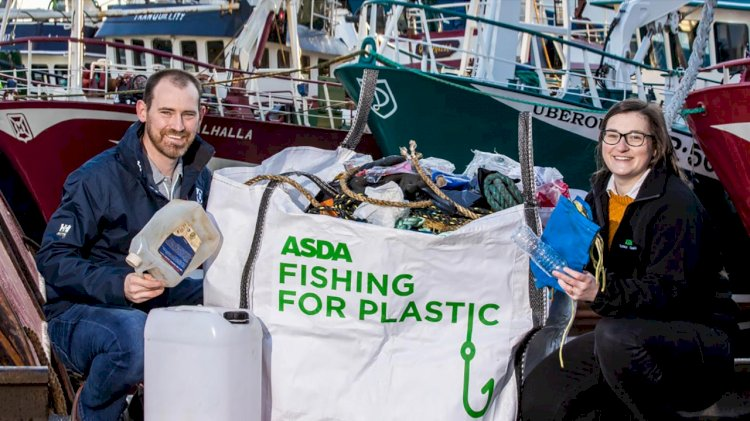 Asda's fishing fleets equipped to tackle plastic pollution with new bags