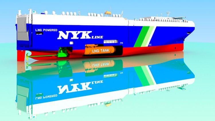 NYK to build second LNG-fueled PCTC