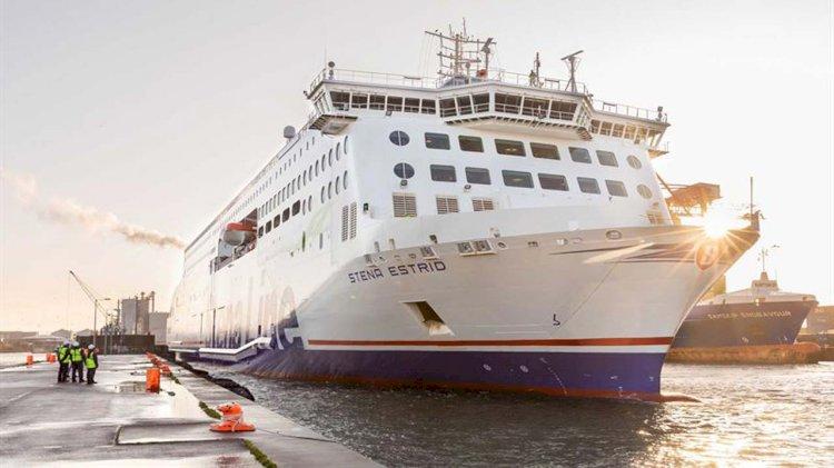 Newest ferry Stena Estrid started service on the Irish Sea
