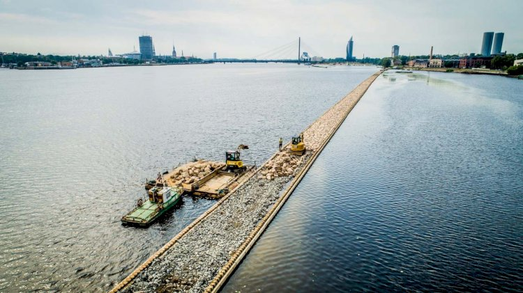 Freeport of Riga Authority completed reconstruction of the FG levee