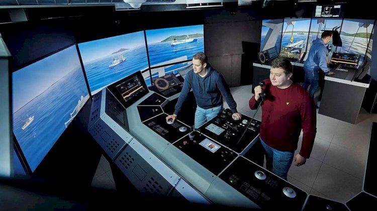First K-Sim Fishery simulator at Lofoten Vocational School