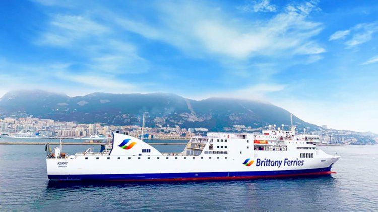 Brittany Ferries ship Kerry embarked on her inaugural direct sailing