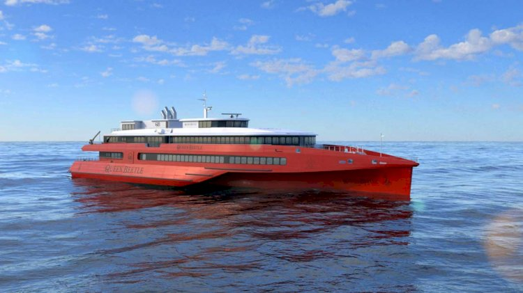 Austal introduces its new 83 metre trimaran ferry